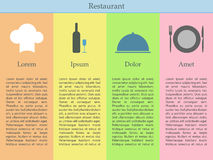 Restaurant infographics Royalty Free Stock Photo
