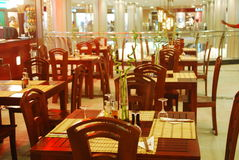 Restaurant inside shopping centre. An image of an indoor restaurant Stock Photography