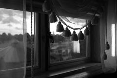 The restaurant from the inside. The restaurant window from the inside Royalty Free Stock Photos