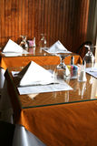 Restaurant interior. Set tables inside of a restaurant Stock Photography