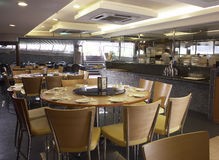 Restaurant interior. A chinese restaurant interior shot Royalty Free Stock Photos