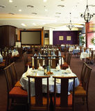 Restaurant interior. A chinese restaurant interior shot Stock Image