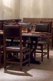 Restaurant interior. Chairs and table stock image