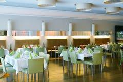 Restaurant interior. Modern good food Stock Photos