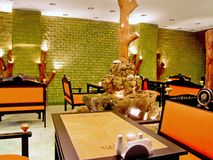 Restaurant interior Stock Images