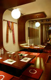 Restaurant interior. Modern Japanese restaurant interior decor Royalty Free Stock Photo