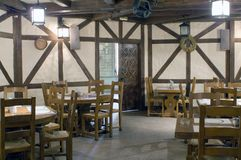 Restaurant interior. Stylized in country style Stock Images