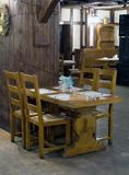 Restaurant interior. Stylized in country style Stock Photography