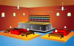 Restaurant interior Stock Images