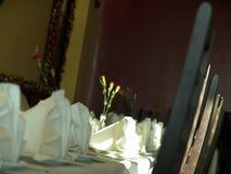 Restaurant interior. Table settings in a restaurant Stock Photos