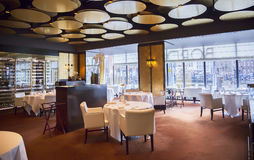 Restaurant interior in Amsterdam hotel Royalty Free Stock Images