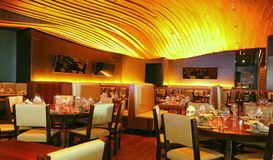Restaurant interior. Interior of an empty restaurant with bright light Stock Photography