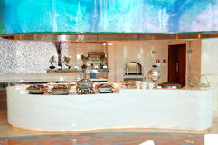 Restaurant interior of the luxury hotel Stock Images