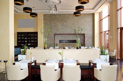 The restaurant interior of luxury hotel Stock Photography