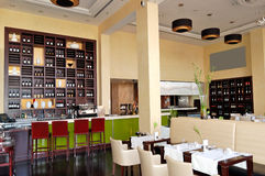The restaurant interior of luxury hotel Royalty Free Stock Photography