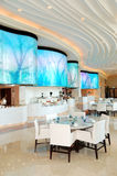Restaurant interior of the luxury hotel Royalty Free Stock Images