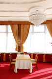 Restaurant interior at luxuty hotel Royalty Free Stock Photos