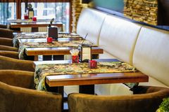 Restaurant interior Royalty Free Stock Photos