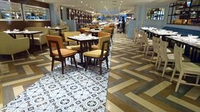 Restaurant interior. With modern urban architecture Stock Photography