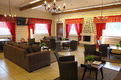 Restaurant interior in Rovaniemi Royalty Free Stock Photo