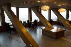 Restaurant interior in Seoul Tower royalty free stock image