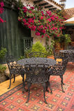Restaurant interior in Villa de Leyva Royalty Free Stock Photo