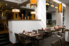 Restaurant interiors. Luxury restaurant with nice interiors Stock Photo