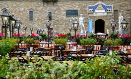 Restaurant in Italië Stock Foto