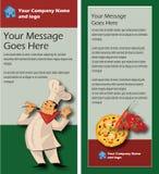 Restaurant Italian Rack Card Template 4x9 Stock Photos