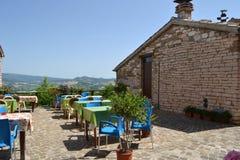Restaurant in an Italian village Royalty Free Stock Image