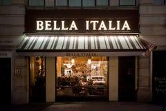Restaurant italien à Londres Images libres de droits