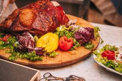 Restaurant italien coloré et délicieux savoureux de buffet Photos libres de droits