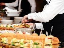 Restaurant italien de buffet photos stock