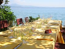 Restaurant in Italy Stock Image