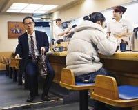 Restaurant japonais typique de wagon-restaurant Photo stock