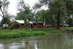 Restaurant in Jelka near Little Danube river Stock Images