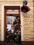 Restaurant in Kazimierz District van Kracow vroeger het Joodse Gebied van de stad in Polen stock afbeelding