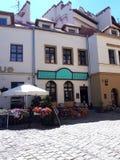 Restaurant in Kazimierz District van Kracow vroeger het Joodse Gebied van de stad in Polen royalty-vrije stock afbeelding