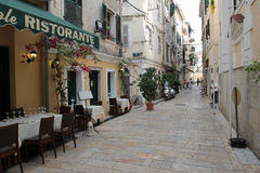Restaurant in Kerkyra, Corfu Royalty Free Stock Photos