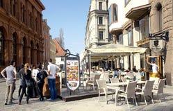 Restaurant Key to Riga Stock Image