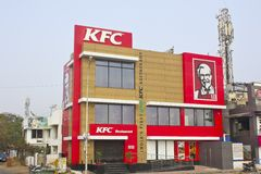 Restaurant KFC in Chennai Royalty Free Stock Images