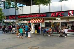 Restaurant KFC (Kentucky Fried Chicken). BERLIN - JULY 24: Restaurant KFC (Kentucky Fried Chicken) on Kurfuerstendamm. KFC - is a fast food restaurant chain Stock Photo