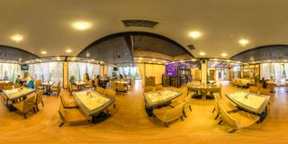 Restaurant Khinkalnaya Legend in the center of Sochi. On the territory and in the room royalty free stock images