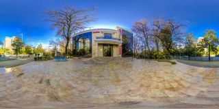 Restaurant Khinkalnaya Legend in the center of Sochi. On the territory and in the room royalty free stock photography