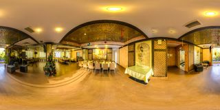 Restaurant Khinkalnaya Legend in the center of Sochi. On the territory and in the room stock photo