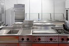 Restaurant kitchen Stock Photography