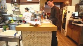 Restaurant kitchen stock video footage