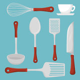 Restaurant and kitchen dishware Stock Photography