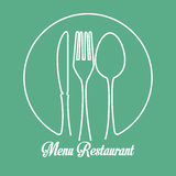 Restaurant and kitchen dishware Royalty Free Stock Images