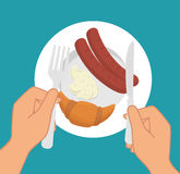 Restaurant and kitchen dishware Stock Photo